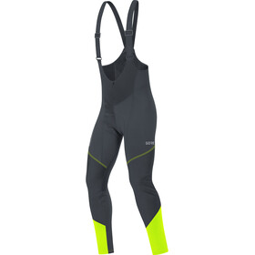 GORE WEAR C3 Windstopper Thermo Bib Tights Heren, black/neon yellow